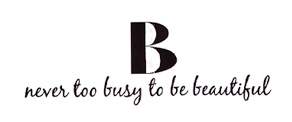 B Never Too Busy To Be Beautiful Logo